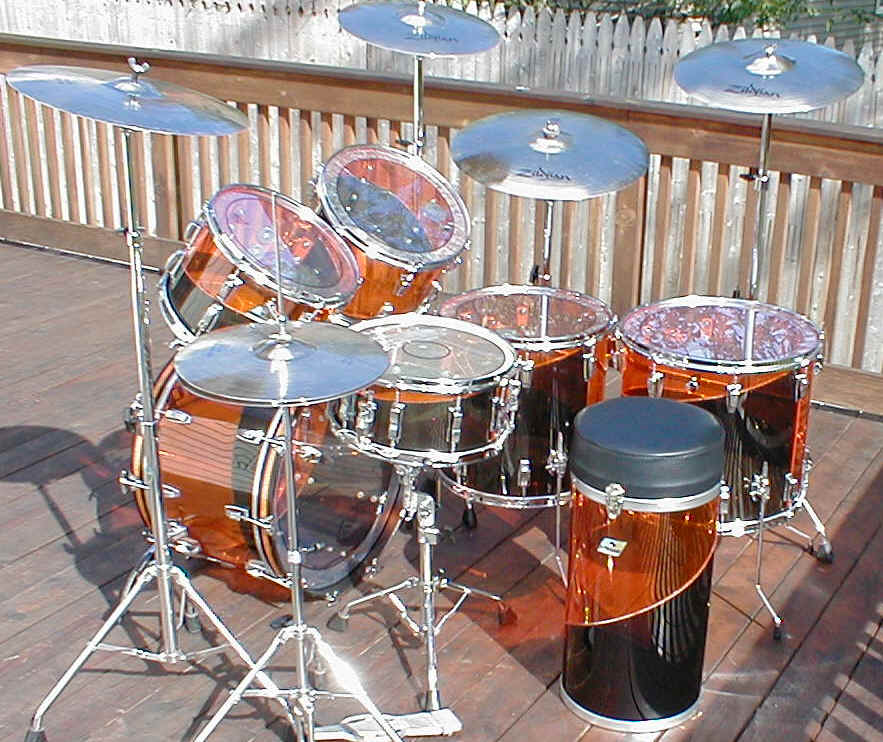 These drums are played with